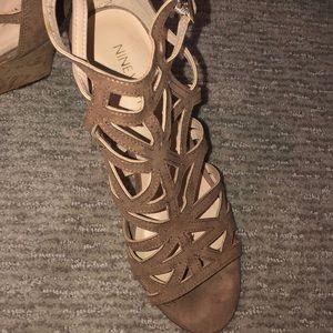 Nine West Shoes - Nine West Nude Wedge